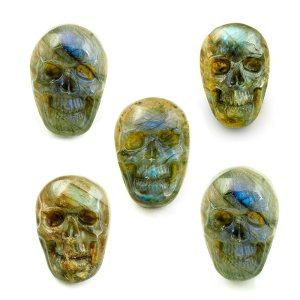 "Labradorite Skull ""Mr. Sexy"" Cabochons"