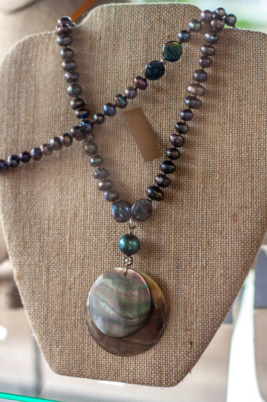 Freshwater Pearl and Abalone Necklace