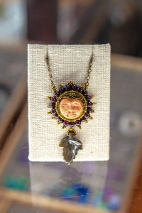 Gold Moon Face Necklace