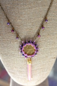 Pink Coin Necklace beading classes