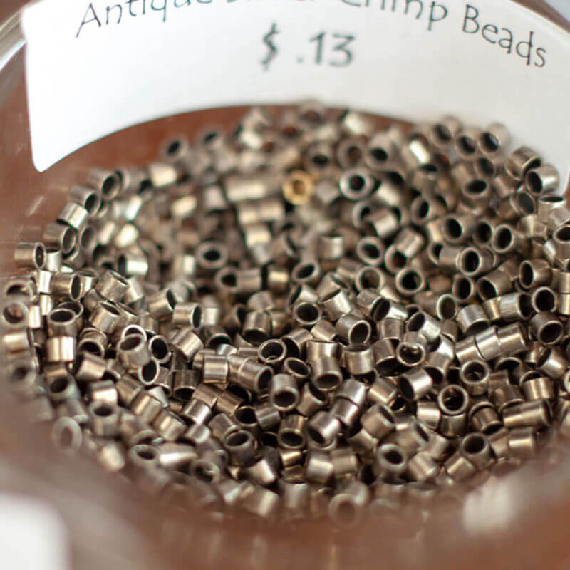 Antique Bronze Crimp Beads