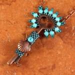 Classy Key Necklace Turquoise