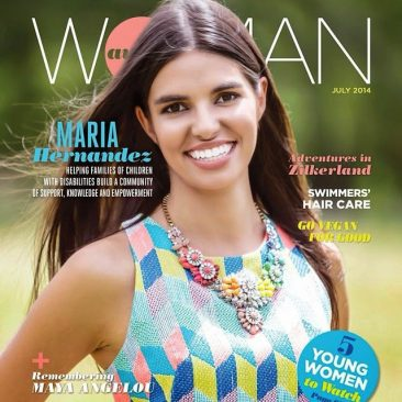 austin commercial photographer with magazine and editorial photo shoot of a hispanic brunette wearing Kendra Scott jewelry and a print sleeveless blouse