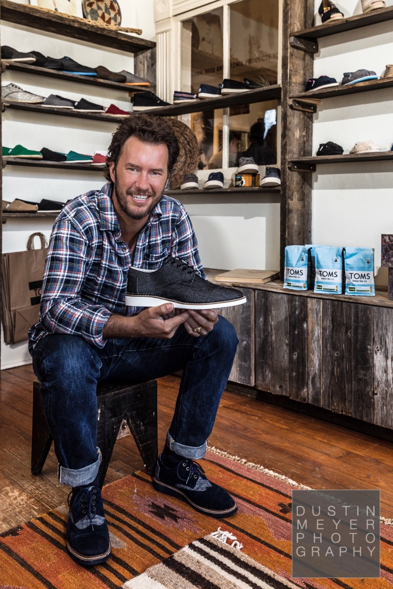 austin commercial photography photo shoot with Blake Mycoskie, CEO and founder of TOMS Shoes