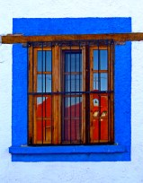 Red Church, Blue Window by Jann Alexander © 2012