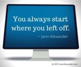 When to Start by Jann Alexander ©2015