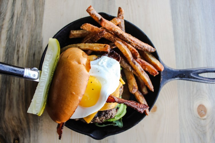 Punch Bowl Cast iron burger