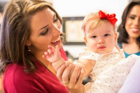 KEYE TV's Allison Miller and her daughter. Photo by Ben Porter Photography