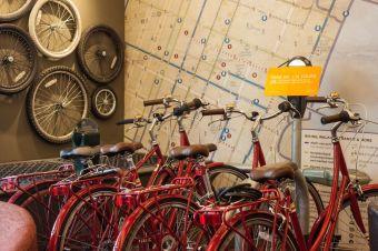Hotel vintage bikes