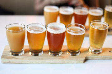 Greenhouse Craft Food beer-flight