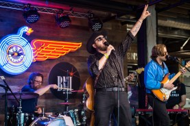 Paul Cauthen performs at YETI's Flagship Store during SXSW on March 15, 2017, in Austin, TX. (Erika Goldring Photo)