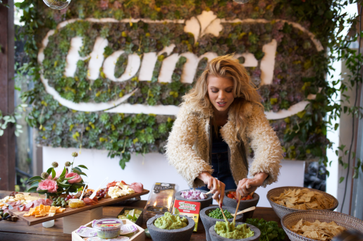sxsw Annalynne McCord visits the Hormel Foods Pop-Up