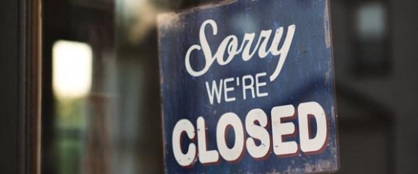 restaurant closed-sign