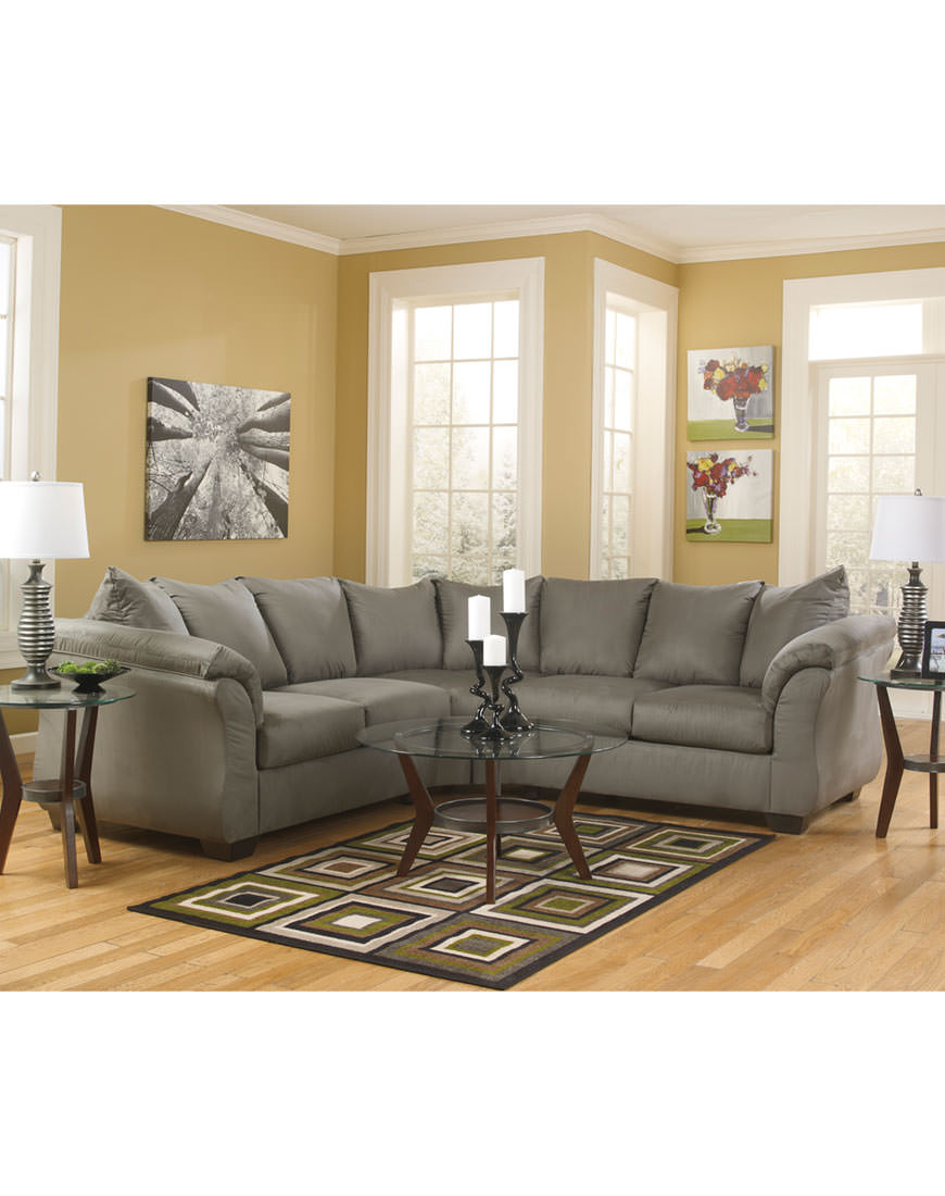 American Sectional Flannel Seal Austins Furniture Depot