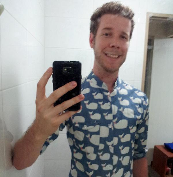 Whale Shirt Selfie