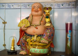 A jolly Buddha at our second food tour stop