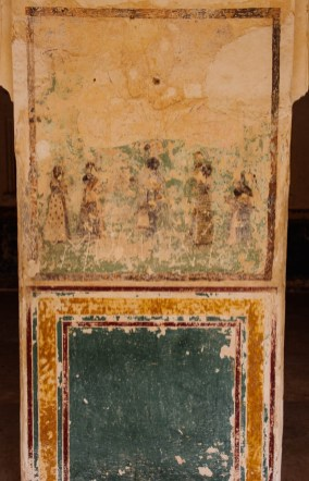 Original paintings on the palace walls