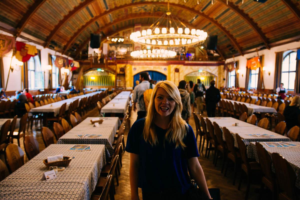 Nicole in the Hofbrauhaus