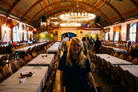 Nicole in the Hofbrauhaus