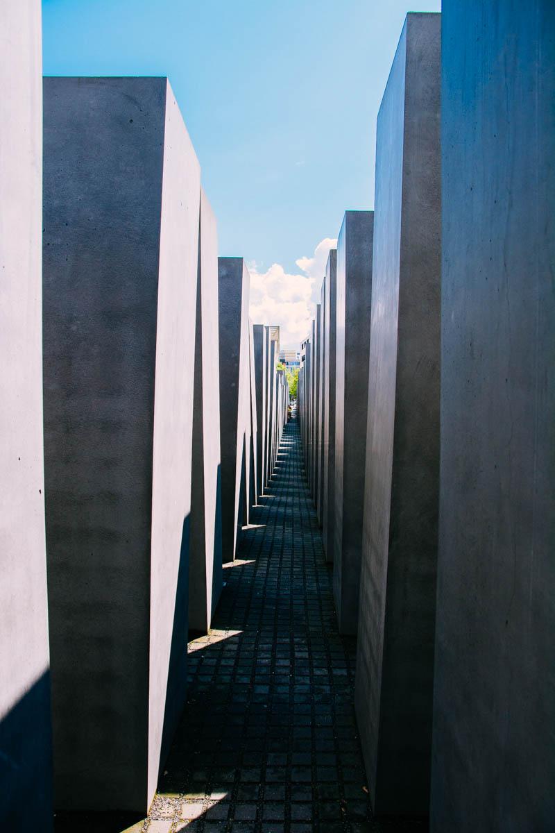 Walking through the memorial the columns get taller
