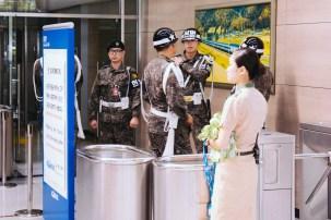 Soldiers in Dorasan Station