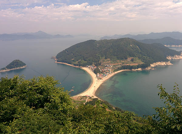 The view from Waesan Mountain