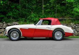 This 1967 3000 Mark III, series BJ8, has been owned by Bill and Sarah Richey of Bowling Green, Kentucky, for 15 years. They heard about the car at a Bluegrass Austin-Healey Club Christmas party and subsequently bought it out of a salvage yard in Louisville, Kentucky. It has since achieved Silver-level concours certification, and the Richeys did the Great Race in it a few years ago.