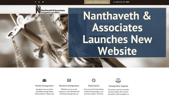 Nanthaveth & Associates Launches Immigration Law Website