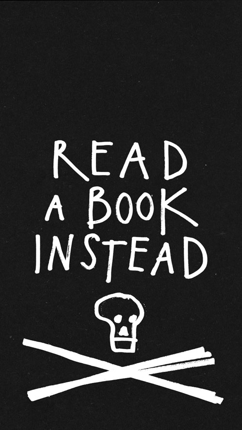 read a book instead wallpaper