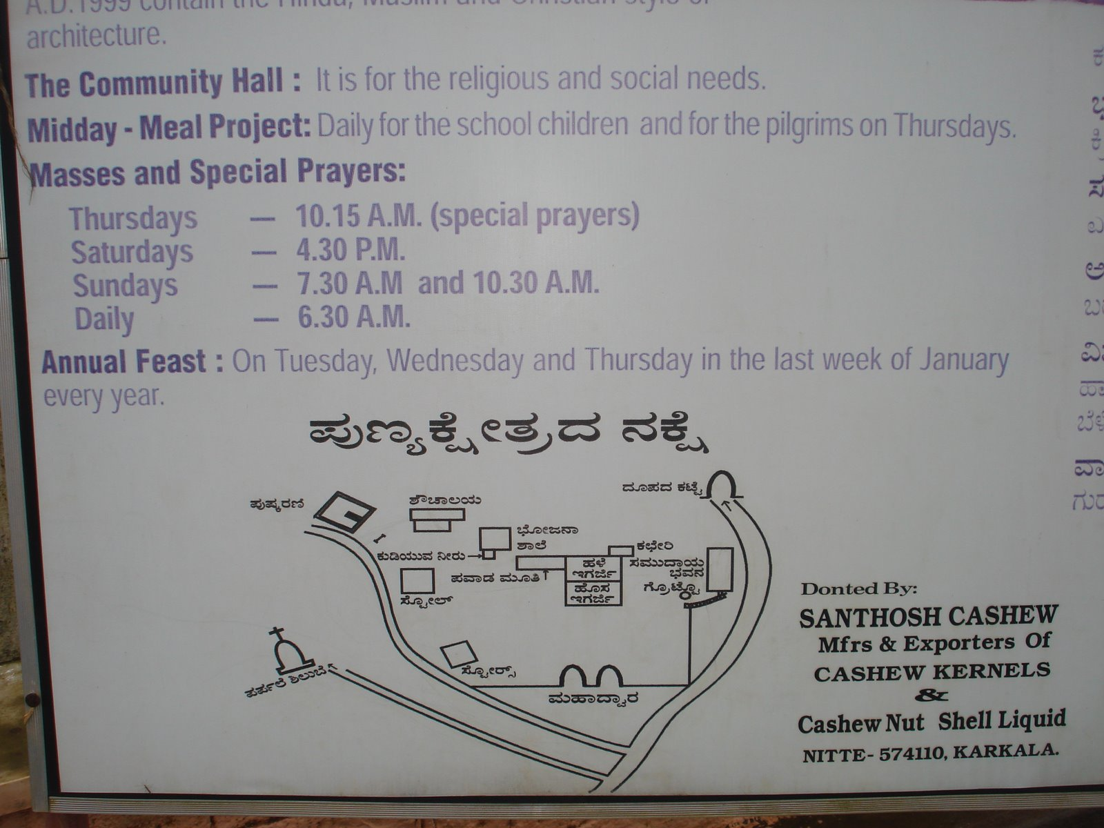 St Lwarence - mass timings