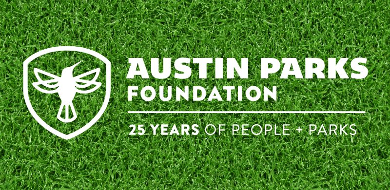 APF 25 years logo on grass background