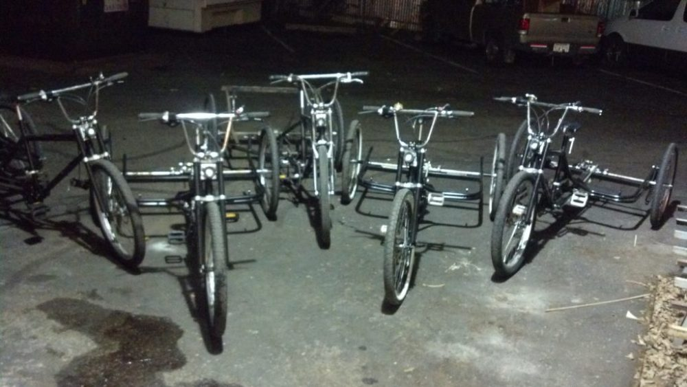 Refurbished and tuned up Tipke pedicabs that laid the groundwork for what would become Precision Pedicabs.