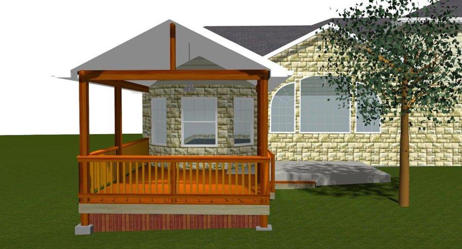 custom design rendering austin decks