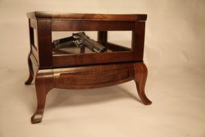 pistol gun wood display case box philip morley furniture austin school of furniture and design