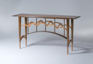 arched entry table by aaron fox austin school of furniture and design