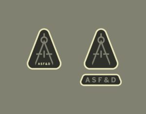 Furniture School main logo gray and tan Austin School of Furniture and Design