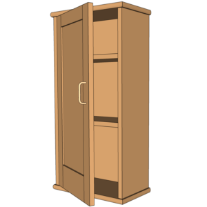 Etonnant ... 3d Model Brown Wall Cabinet Designed In SketchUp Austin School Of  Furniture And Design