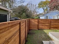 Horizontal Wood Fence Austin, TX