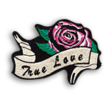 """Embroidery Patch  <br><p style=""""font-size: 11px;"""">Great way to display your logo<br> or custom design and embellish<br> any garment or fabric by interlacing threads!<br> Available in any shape and color.</p>"""