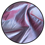 """Taffeta <br><p style=""""font-size: 11px;"""">Taffeta material is a crisp, smooth, plain-woven <br>fabric made from silk or cuprammonium rayons as <br>well as acetate and polyester.</p>"""