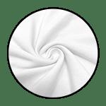 "White Cotton<br><p style=""font-size: 11px;"">lightweight, plain-weave cotton material</p>"