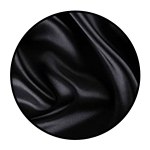 """Black Satin<br><p style=""""font-size: 11px;"""">This fabric has the sheen and looks of silk.</p>"""
