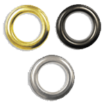 """Metal grommet eyelet ( Brass , Nickle or Black )<br><p style=""""font-size: 11px;"""">Metal grommet is attached to increase its durability.</p>"""