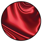 """Satin <br><p style=""""font-size: 11px;"""">Satin is characterized by a soft, lustrous <br>surface on one side, with a duller surface on <br>the other side.</p>"""