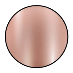 "Shiny Rose Gold<br><p style=""font-size: 11px;"">Rose gold finished polish</p>"