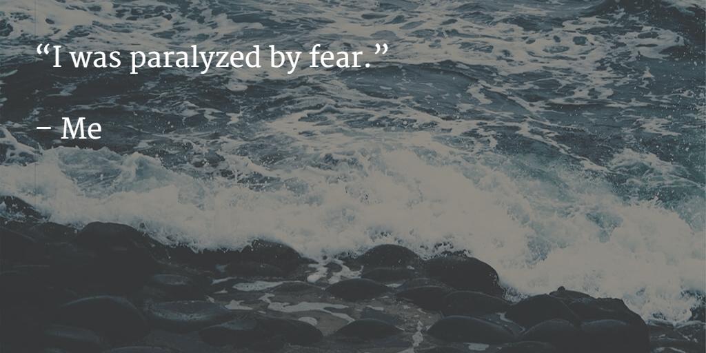 I was paralyzed by fear
