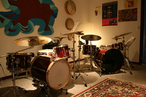Studio. Drum Lessons in Ventura, Austin Wrinkle, instructor.