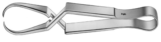 AE-BF411R, SCHÄDEL 	TOWEL CLAMP 	CURVED 	85 mm, 3 3/8""