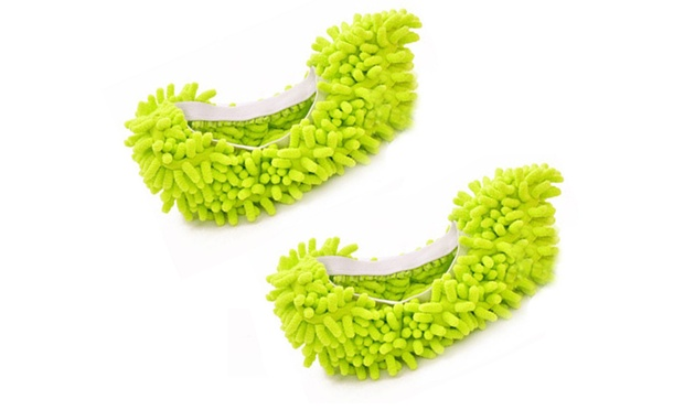 Floor Polishing and Cleaning Microfibre Mop Slippers in Choice of Colours: One ($9.95), Two ($15) or Four Pairs ($25)