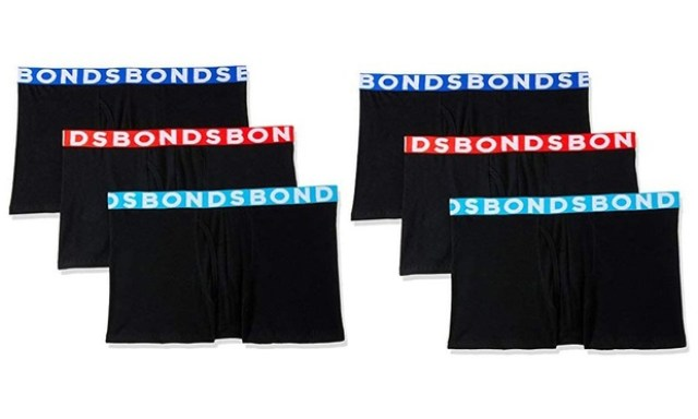 $39.95 for Six Pack of Mens Bonds Everyday Trunks